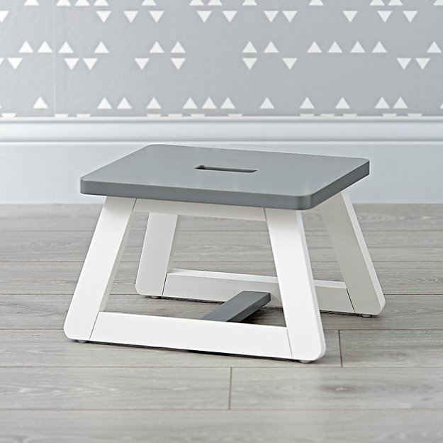 Gage Grey And White Step Stool Crate And Barrel