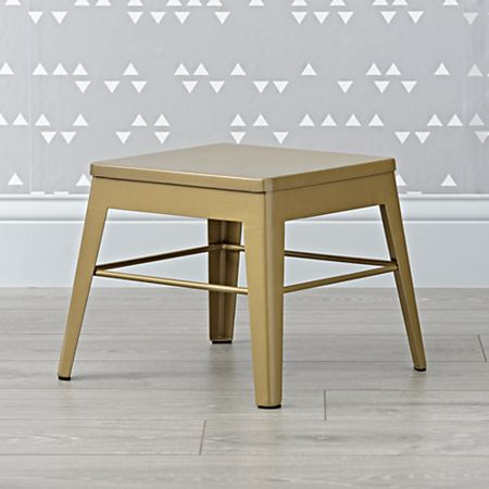 Fine Squared Up Steel Gold Step Stool Gmtry Best Dining Table And Chair Ideas Images Gmtryco