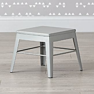 Squared Up Steel Grey Step Stool