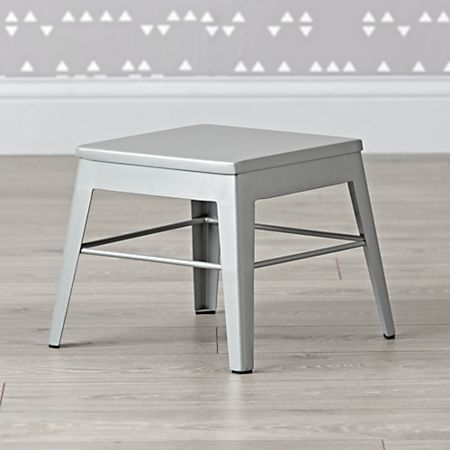 Remarkable Squared Up Steel Grey Step Stool Pabps2019 Chair Design Images Pabps2019Com