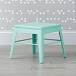 Squared Up Steel Mint Step Stool