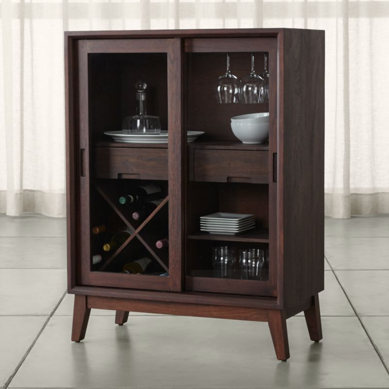 Steppe Wine Bar Cabinet + Reviews | Crate and Barrel