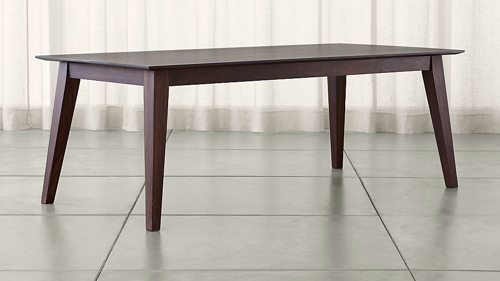 solid wood dining table Steppe Solid Wood Dining Table + Reviews | Crate and Barrel solid wood dining table