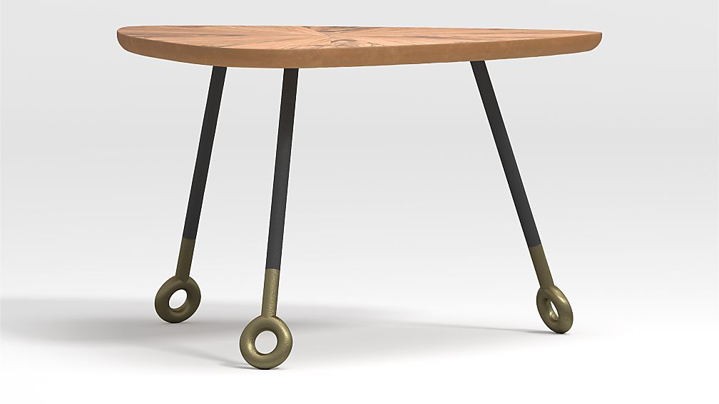 Stiles Acacia Triangle Nesting Table - Image 1 of 7