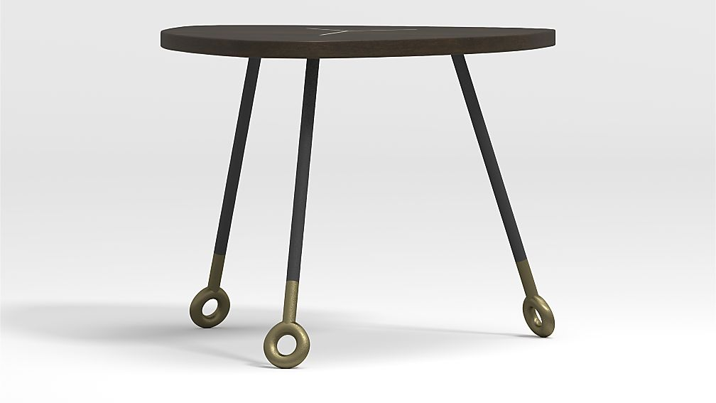 Stiles Dark Wood Triangle Nesting Table - Image 1 of 6