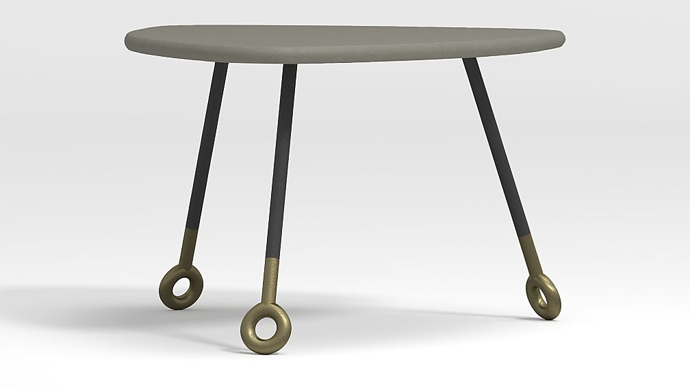 Stiles Faux Shagreen Triangle Nesting Table - Image 1 of 7