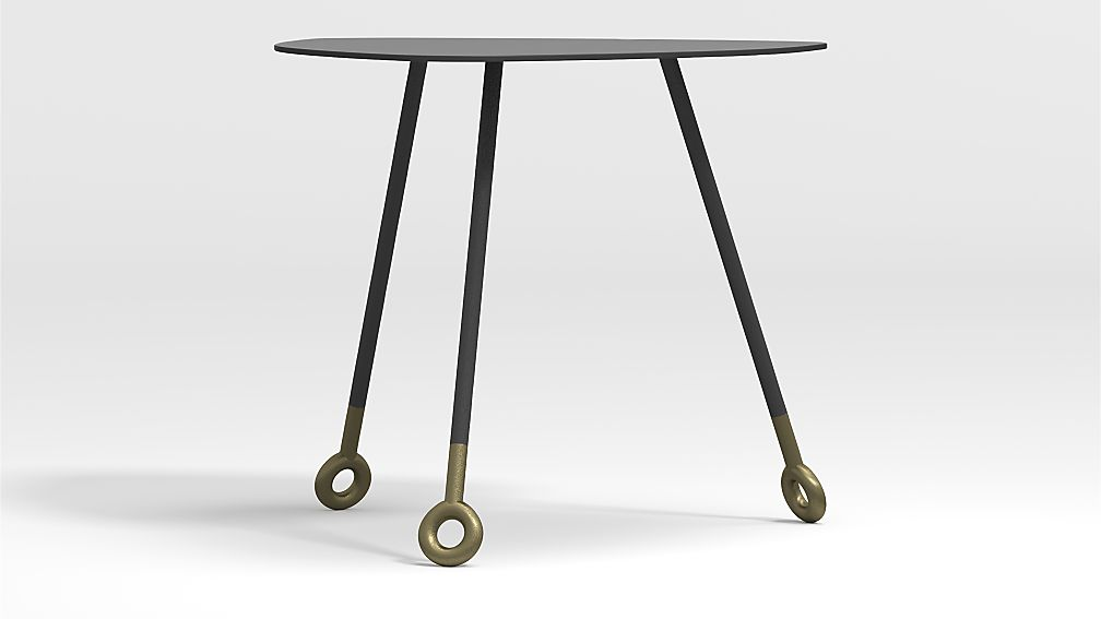 Stiles Metal Triangle Nesting Table - Image 1 of 6