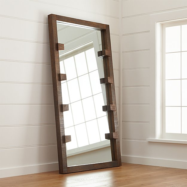 Stilt Floor Mirror In Mirrors Reviews Crate And Barrel