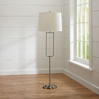 Stirrup Brushed Nickel Floor Lamp