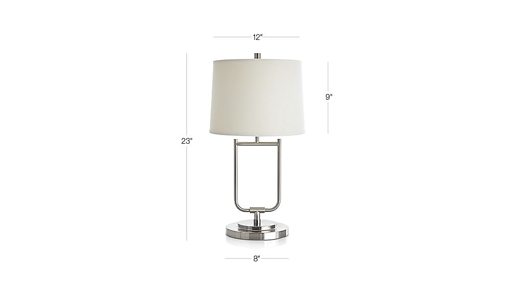 Stirrup Brushed Nickel Table Lamp In Table & Desk Lamps