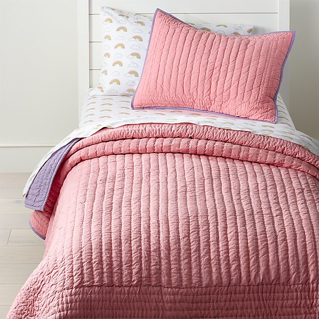 Pink And Purple Quilt Twin Reviews Crate And Barrel