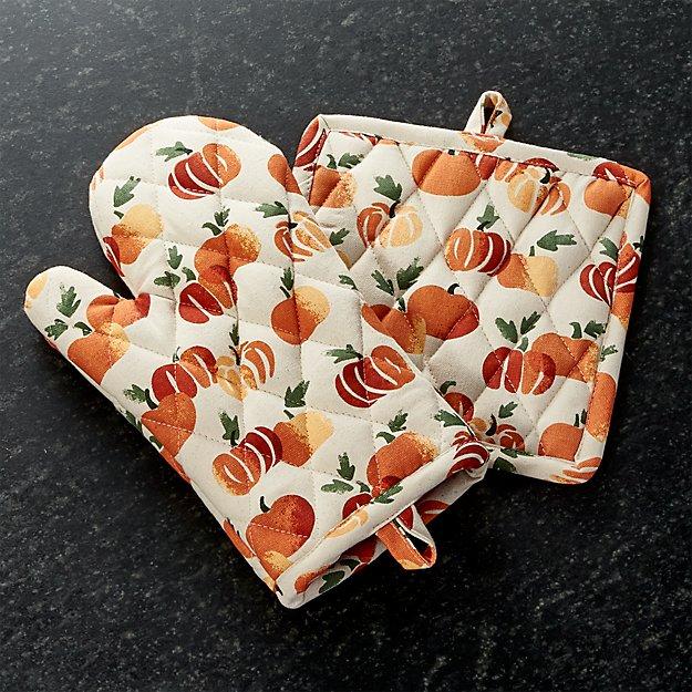 Stamped Pumpkin Pot Holder/Oven Mitt