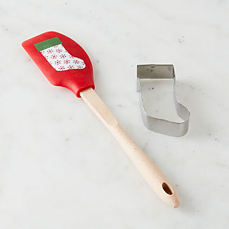 Stocking Spatula and Cookie Cutter Set