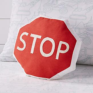 Stop Traffic Sign Throw Pillow