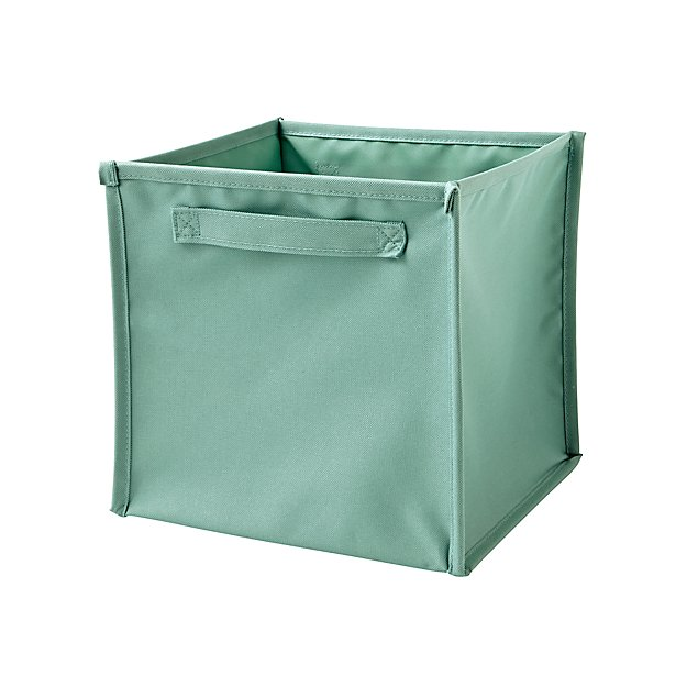 Canvas Teal Cube Bin Reviews Crate And Barrel