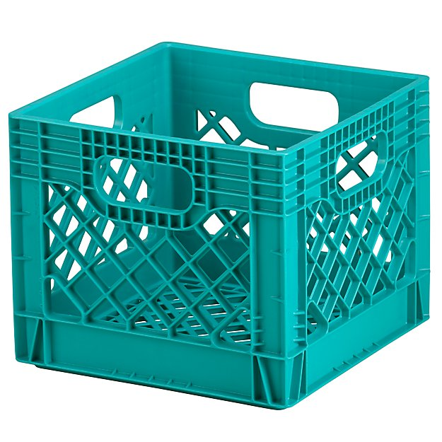 Brand new Blue Milk Crate Storage + Reviews | Crate and Barrel HV12