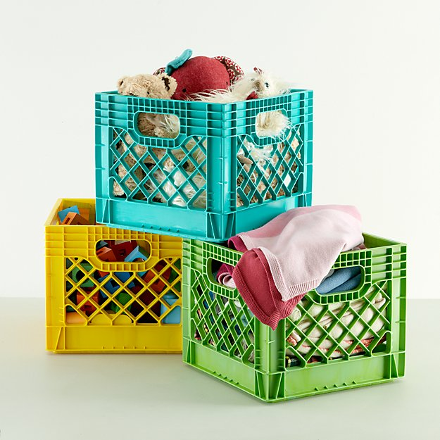 Fabulous Kids Milk Crate Storage | Crate and Barrel NB07