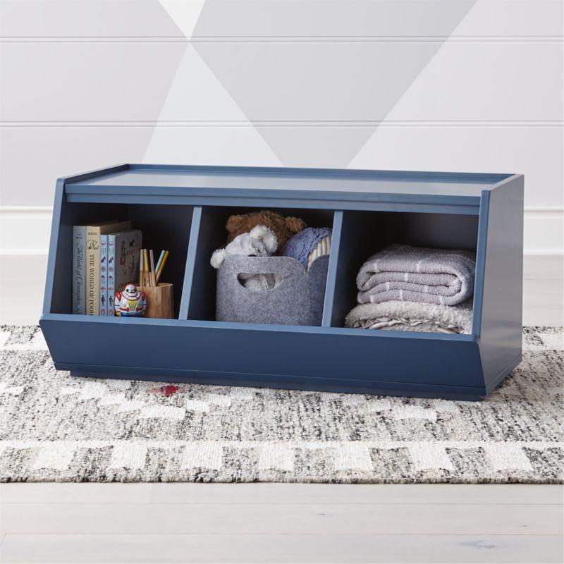 Storagepalooza II Adjustable Blue Toy Organizer