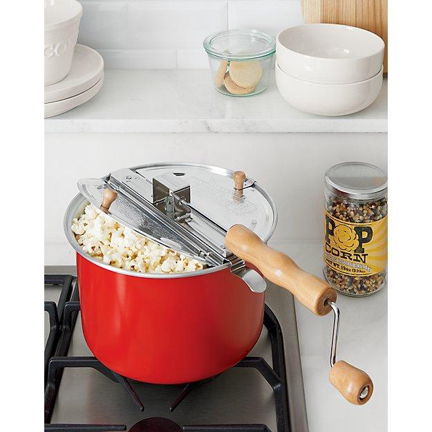 stovetop popcorn popper red crate and barrel. Black Bedroom Furniture Sets. Home Design Ideas