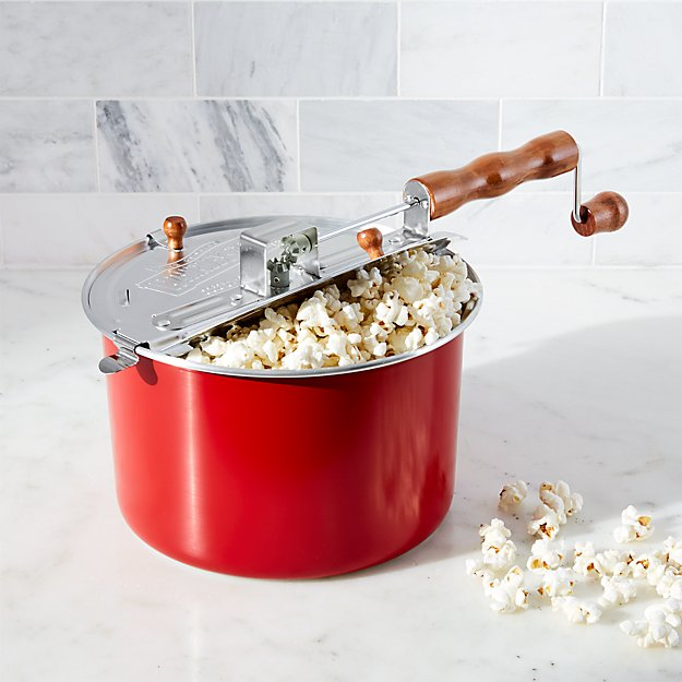 Stovetop Popcorn Popper Red Reviews Crate And Barrel