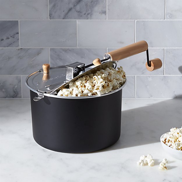 Stovetop Black Popcorn Popper Crate And Barrel