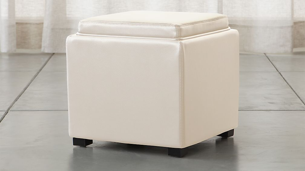 Stow Alabaster 17 Quot Leather Storage Ottoman Reviews