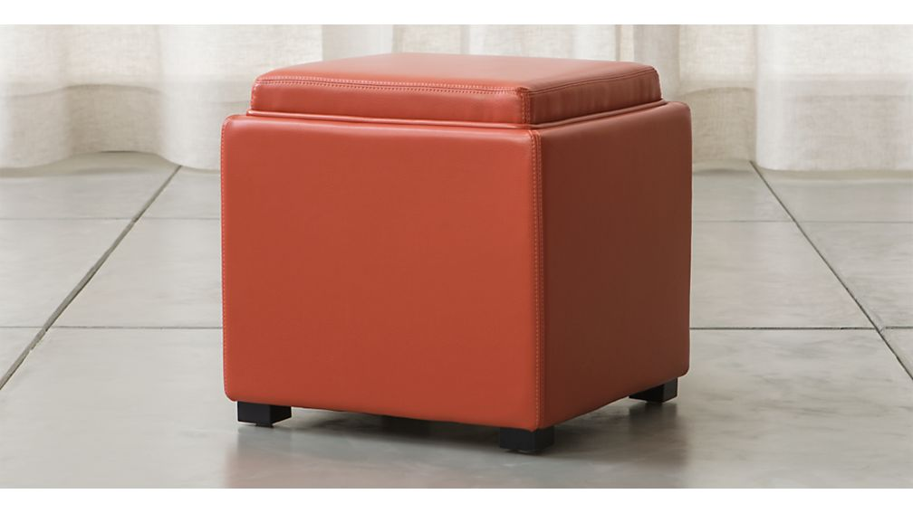 Stow Persimmon 17 Leather Storage Ottoman Reviews