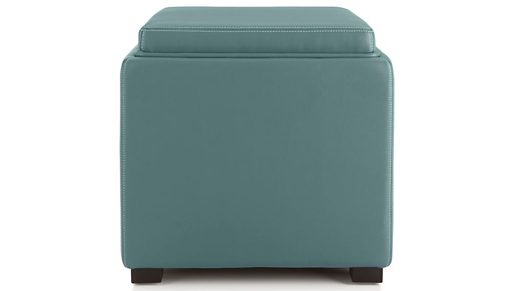 Stow Ocean 17 Leather Storage Ottoman Reviews Crate