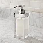 Stretten Nickel Trim Glass Soap Pump