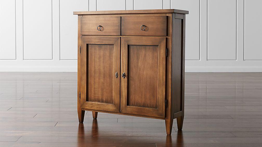 Stretto Nero Noce Cabinet Reviews Crate And Barrel