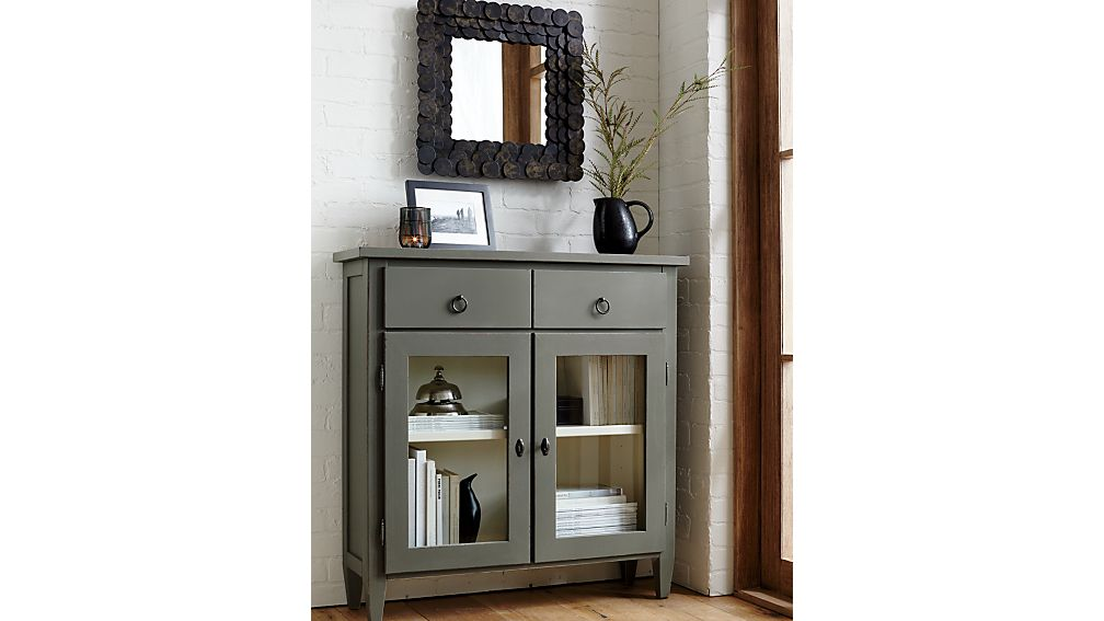 Stretto Grey Entryway Cabinet Crate And Barrel
