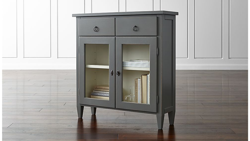narrow cabinets with doors stretto varentone entryway cabinet crate and barrel 23676
