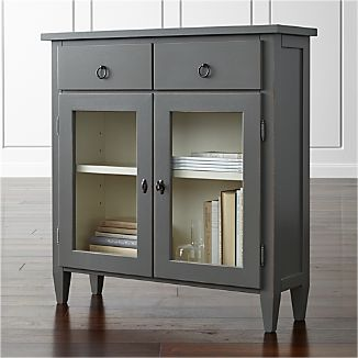 Small Cabinets Crate And Barrel - Small grey cupboard