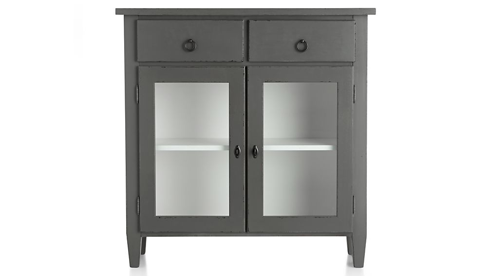 Small Foyer Cabinets : Stretto grey entryway cabinet crate and barrel
