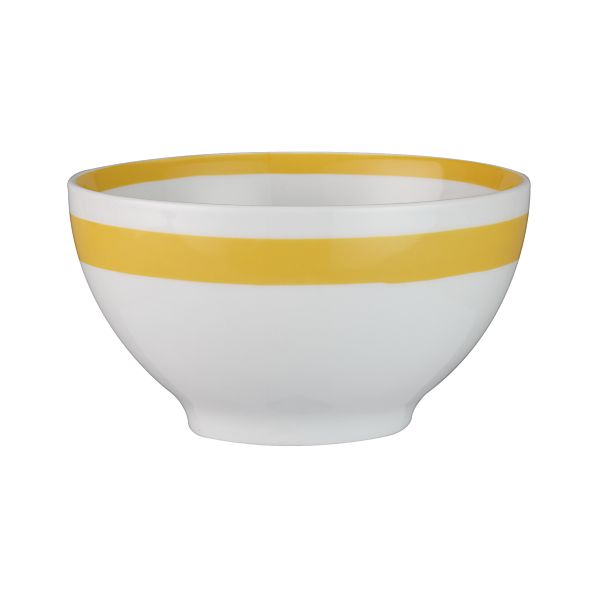 "Yellow Stripe 6"" Bowl"