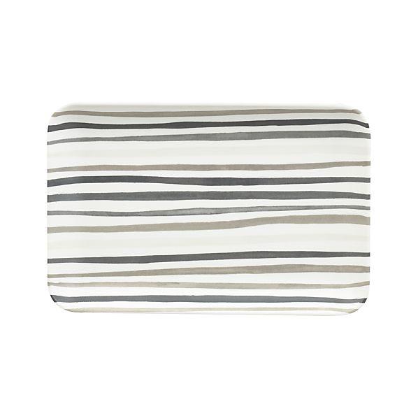 "Slim Stripe 6.5""x4.25"" Melamine Plate"
