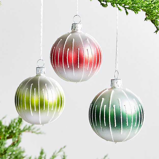 Small Striped Ball Ornaments - Image 1 of 1