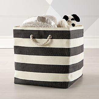 Stripes Around Black Floor Bin