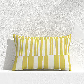 "Striped Lines Bamboo 20""x13"" Outdoor Pillow"
