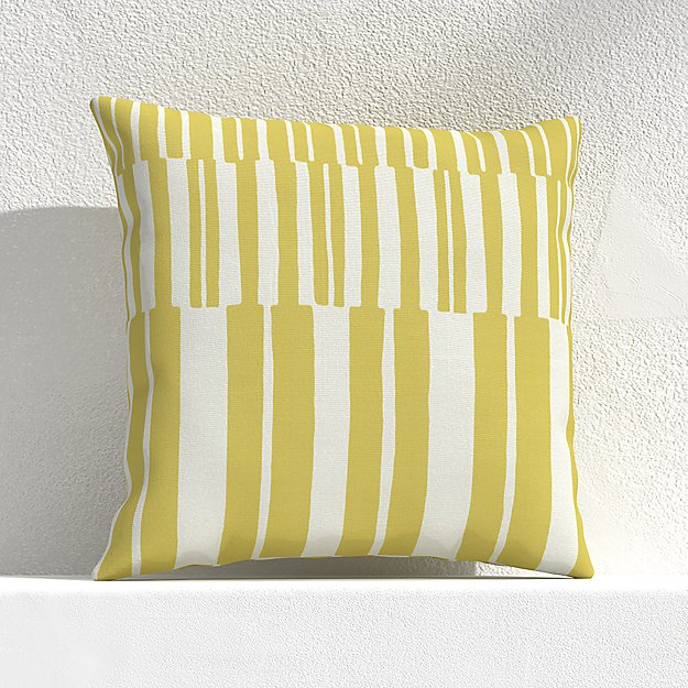 """Striped Lines Bamboo 20"""" Outdoor Pillow - Image 1 of 3"""