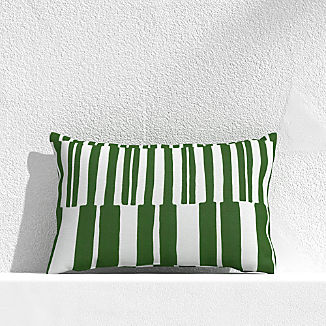 "Striped Lines Cactus 20""x13"" Outdoor Pillow"