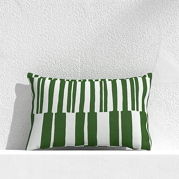 """Striped Lines Cactus 20""""x13"""" Outdoor Pillow - Image 1 of 3"""