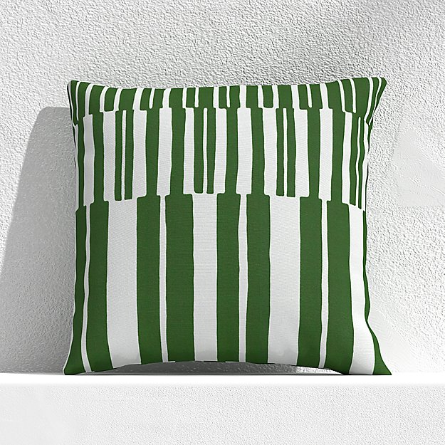 """Striped Lines Cactus 20"""" Outdoor Pillow - Image 1 of 3"""