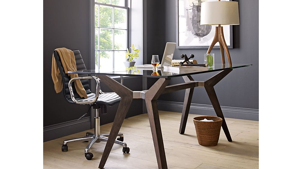 Ripple Black Leather Office Chair