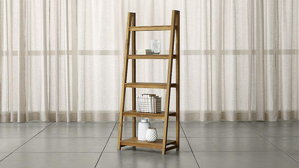 Strut Teak Bookcase - Image 1 of 11