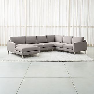 3 Piece Sectionals Crate And Barrel