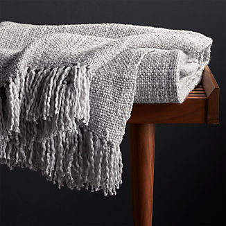 Styles Dove Fringe Throw Blanket