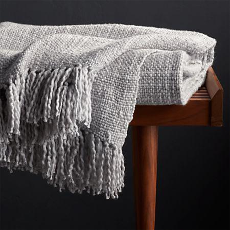 Styles Dove Fringe Throw Blanket