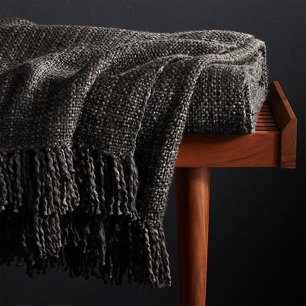 Styles Ebony Fringe Throw Blanket - Image 1 of 5
