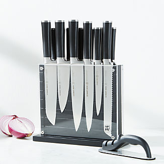 Schmidt Brothers ® Black Subway 15-Piece Knife Block Set
